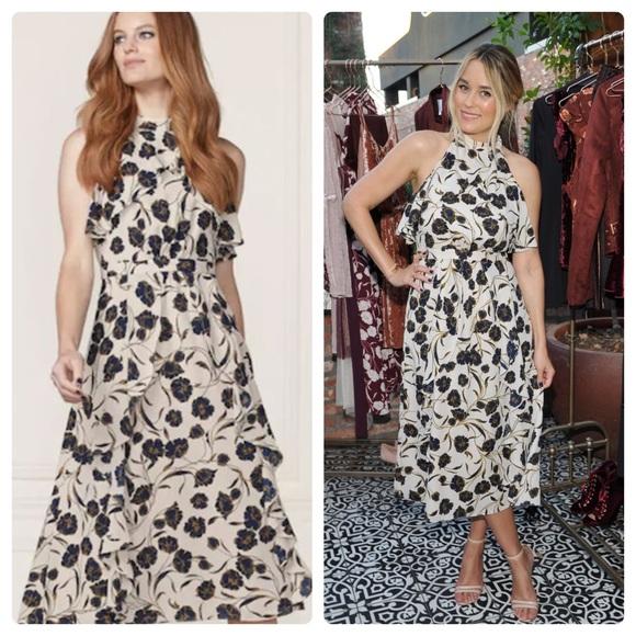 LC Lauren Conrad Dresses & Skirts - Lauren Conrad Runway  Ruffle Midi Dress NWT